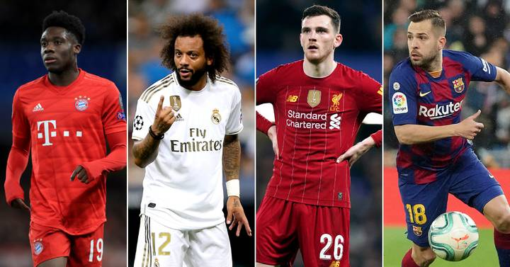 best left backs in the world right now