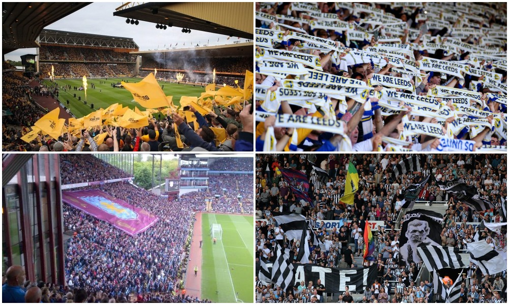best stadiums in England according to atmosphere