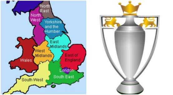most successful English football regions