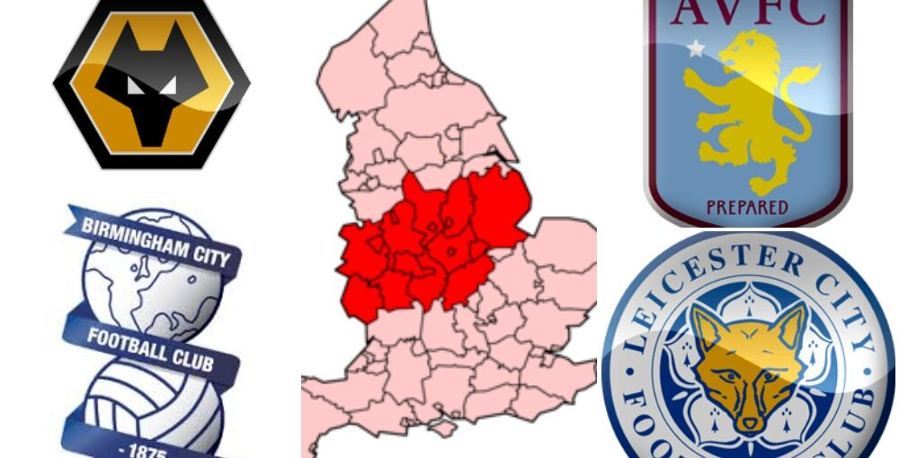 biggest football clubs in the Midlands