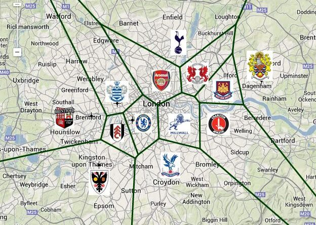 biggest football clubs in London
