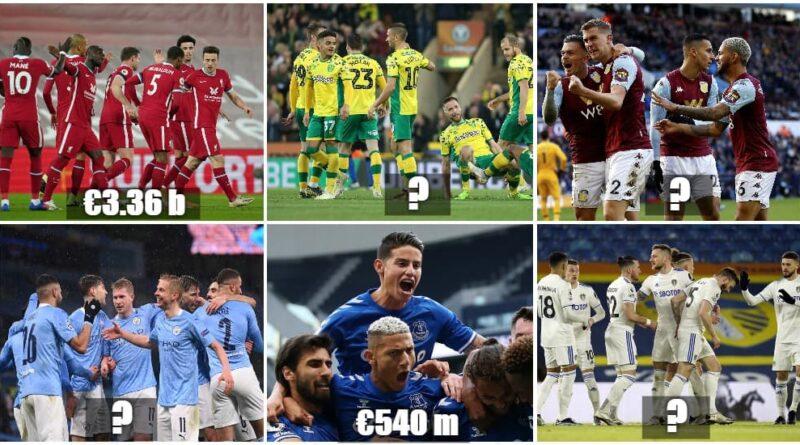 Premier League clubs' market value